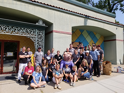 VML celebrates VML Worldwide Foundation Day each September. VMLers pictured here spent the day volunteering at The Children's Place.