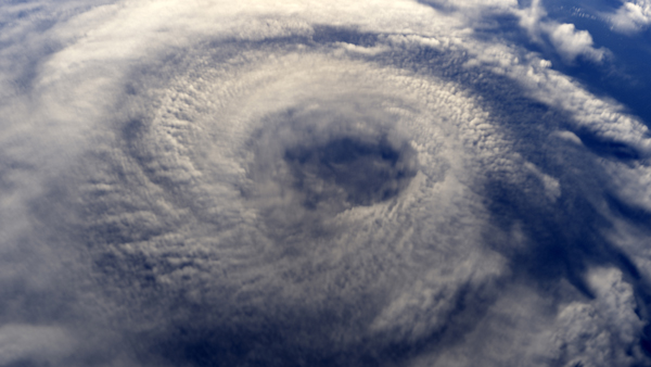 Space view of a hurricane