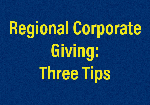 Corporate Giving Network discusses coordinating regional giving.